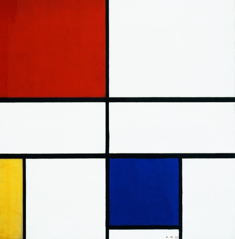 Composition C (No.III) with Red, Yellow and Blue