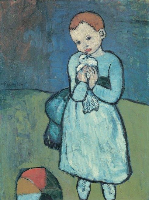 Pablo Picasso's Child with a Dove, 1901
